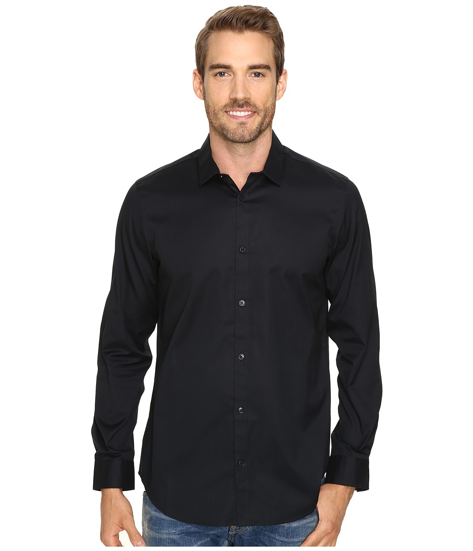 Calvin Klein - Long Sleeve Infinite Cool Button Down Oxford Shirt (Black) Mens Clothing