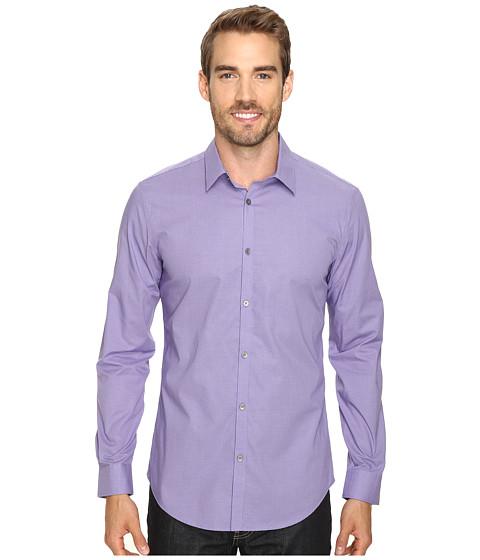 Calvin Klein Slim Fit Long Sleeve Infinite Cool Button Down Micro Check Shirt