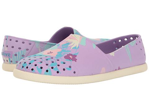 Native Kids Shoes Verona Print (Little Kid) - Lavender Purple/Bone White/Bouquet