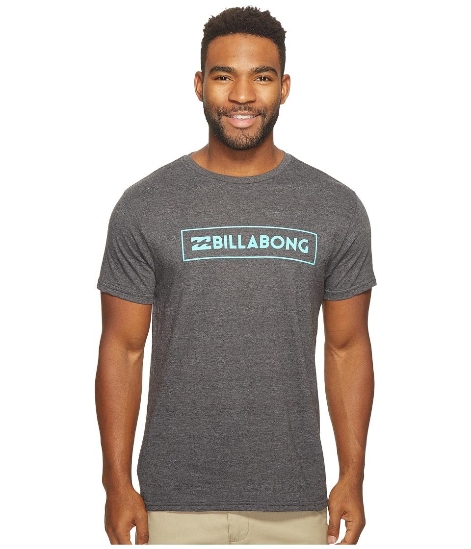 Billabong Unity Block Printed T-Shirt (Black Heather) Men