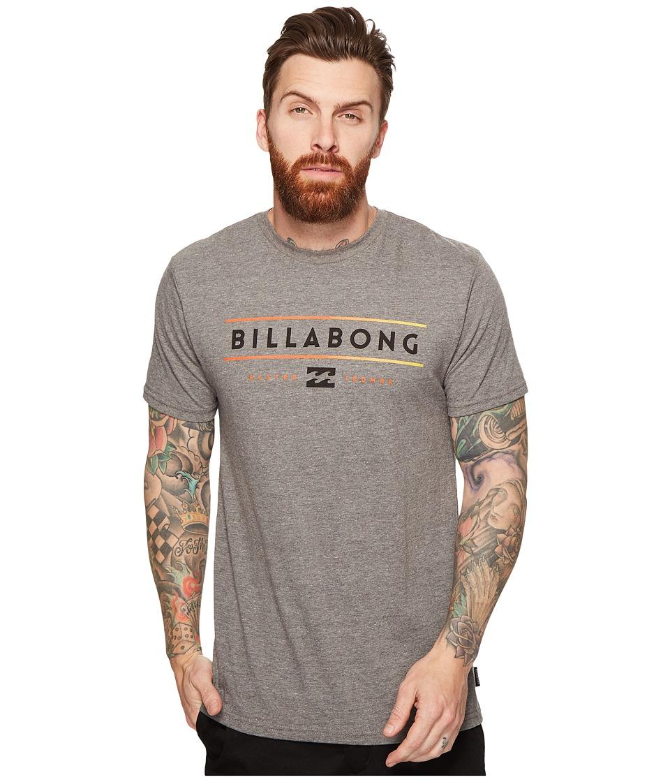 Billabong Dual Unity Printed T-Shirt (Darkey Grey Heather) Men