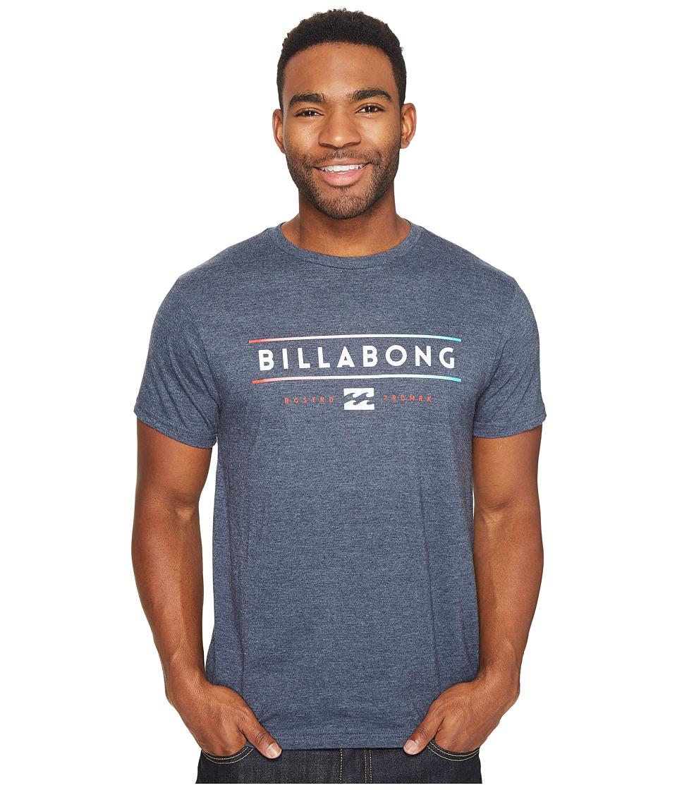 Billabong Dual Unity Printed T-Shirt (Indigo Heather) Men