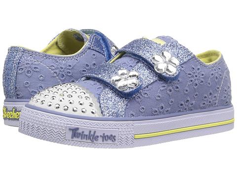 SKECHERS KIDS Twinkle Toes - Shuffles 10724N Lights (Toddler/Little Kid) - Blue/Yellow
