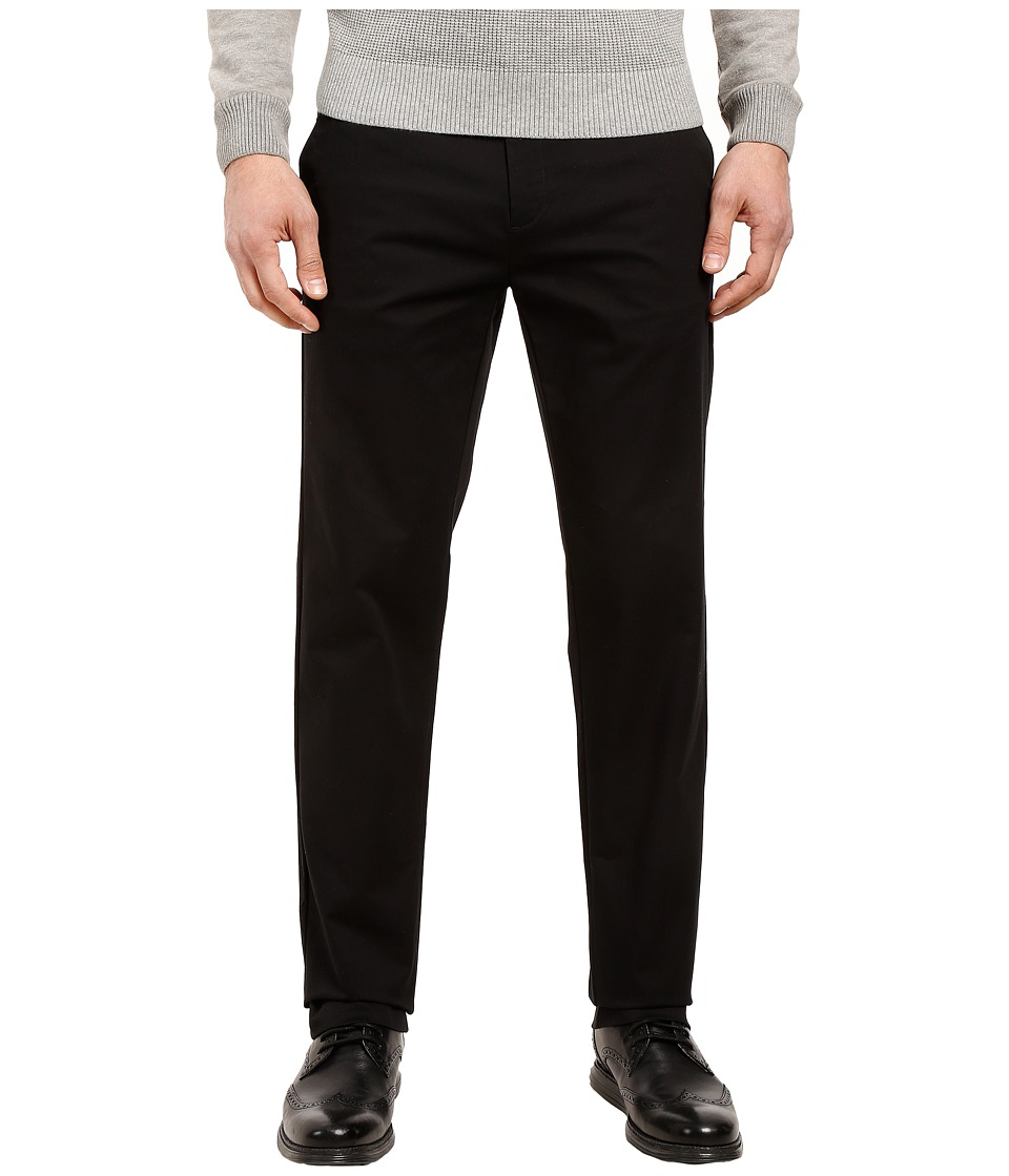 Calvin Klein - Refined Stretch Cotton Twill Pant (Black) Mens Clothing