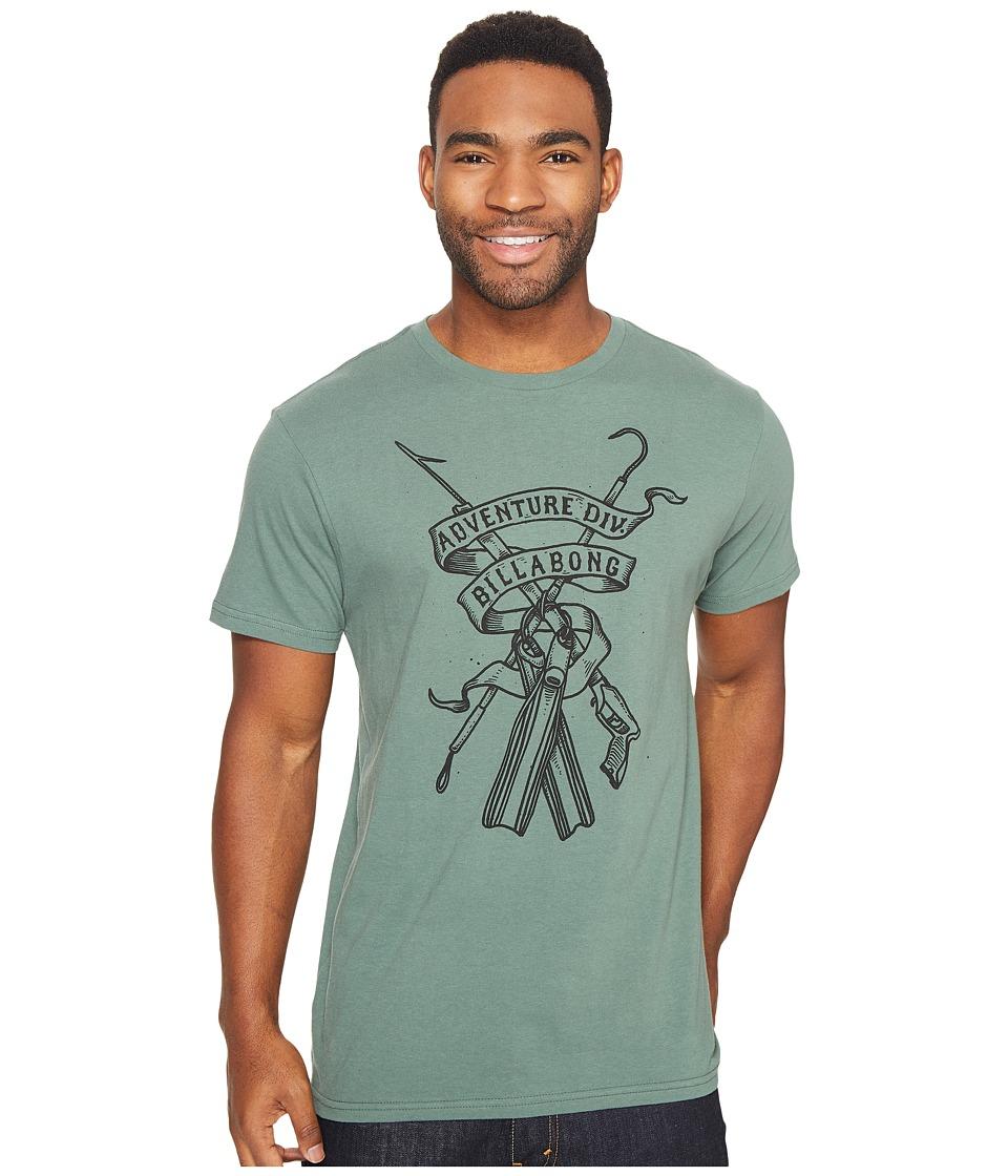 Billabong Diver Printed T-Shirt (Forest) Men
