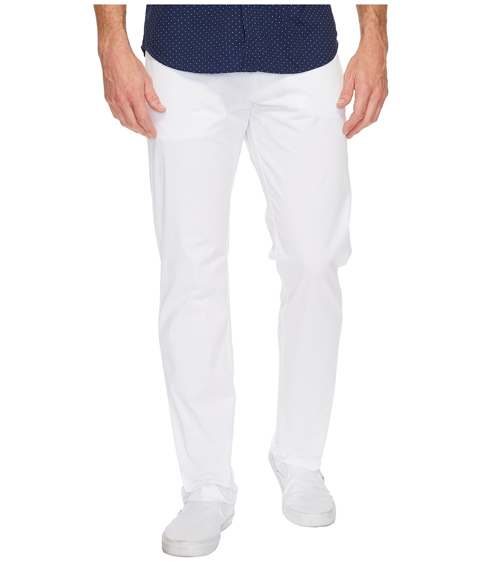 Calvin Klein - Slim Fit 4-Pocket Stretch Sateen Pant (White) Mens Clothing