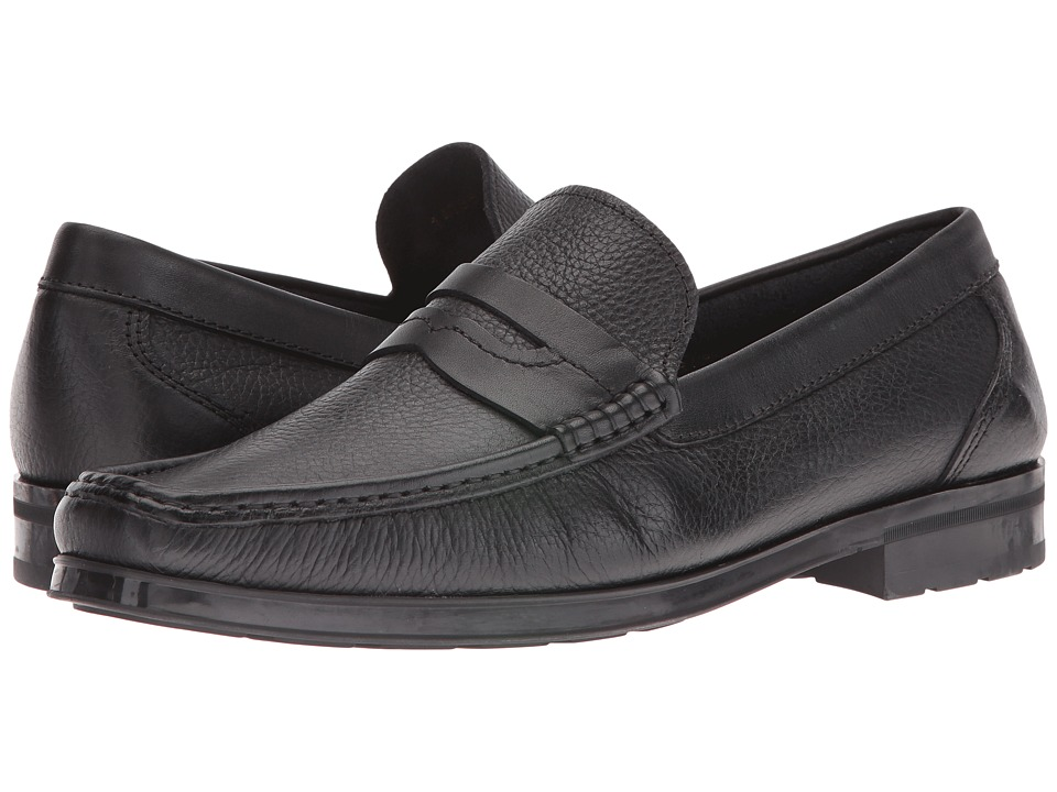 Florsheim Westbrooke Penny Loafer (Black Milled/Black Suede) Men