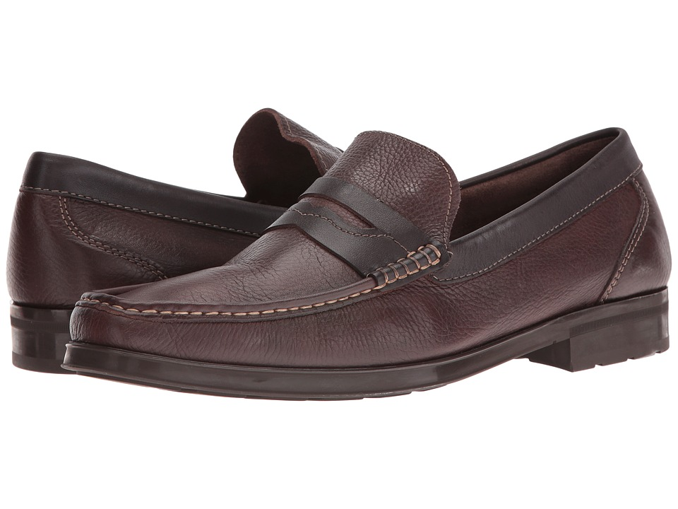 Florsheim Westbrooke Penny Loafer (Brown Milled/Brown Smooth) Men