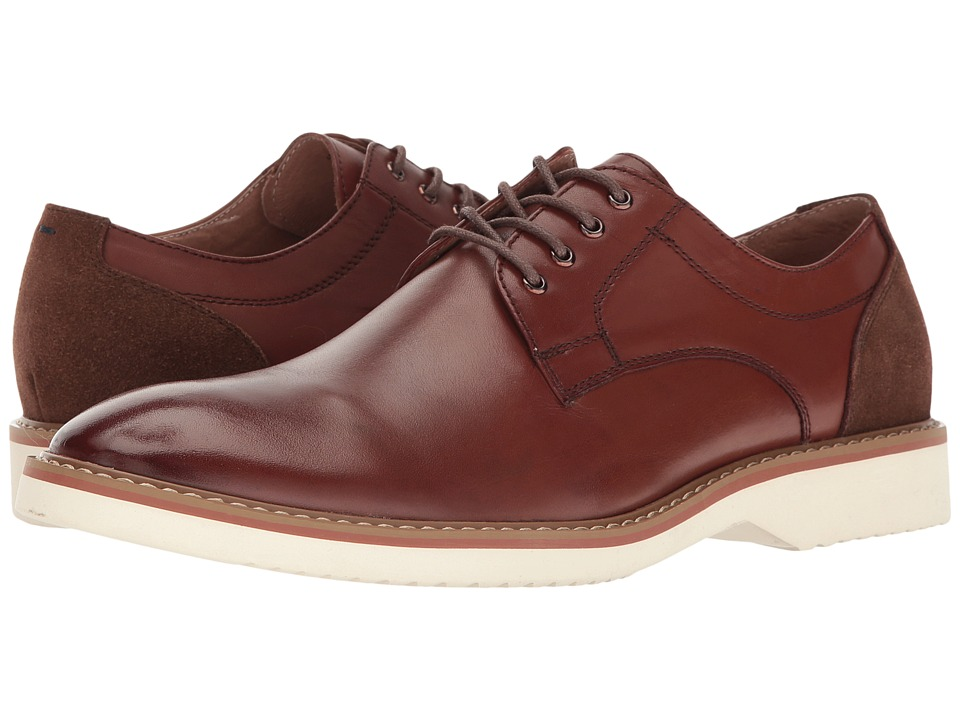 Florsheim Union Plain Toe Oxford (Brown Smooth/Brown Suede) Men