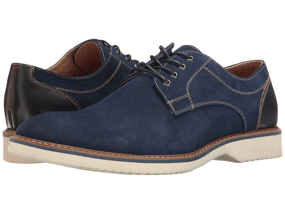 Florsheim Union Plain Toe Oxford (Blue Suede/Blue Smooth) Men