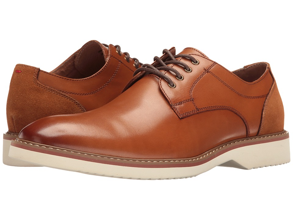 Florsheim Union Plain Toe Oxford (Cognac Smooth/Cognac Suede) Men