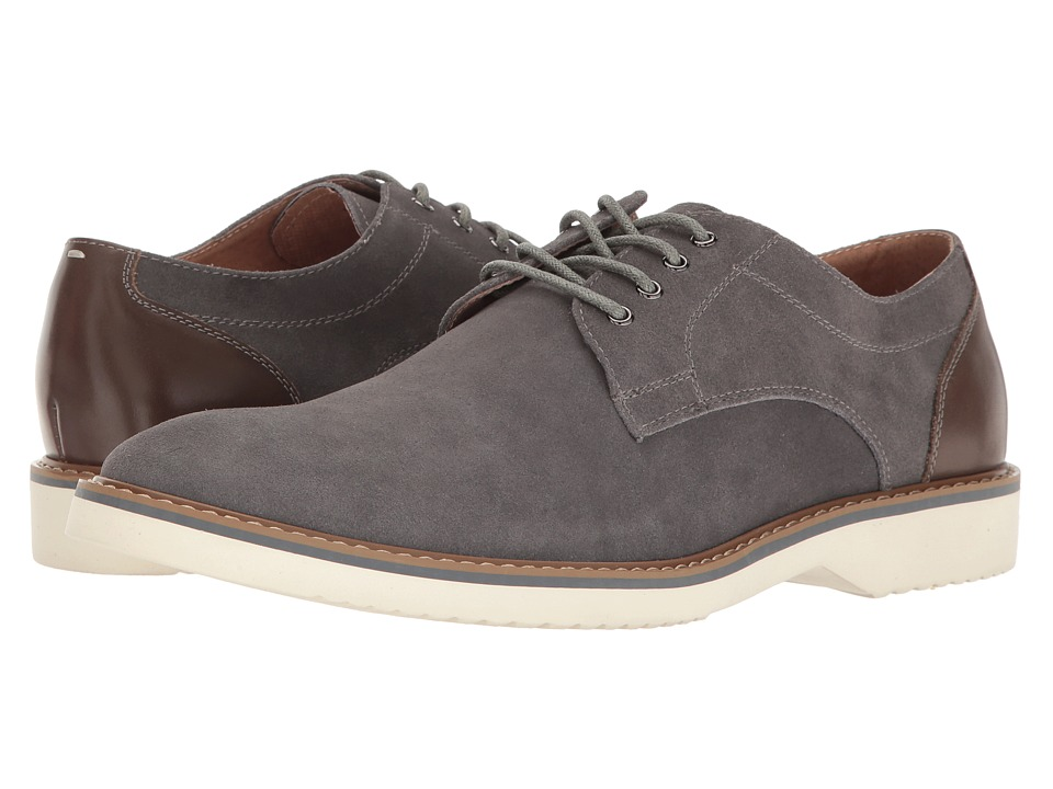 Florsheim Union Plain Toe Oxford (Gray Suede/Gray Smooth) Men