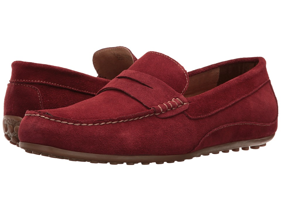 Florsheim Oval Penny Driver (Red Suede) Men
