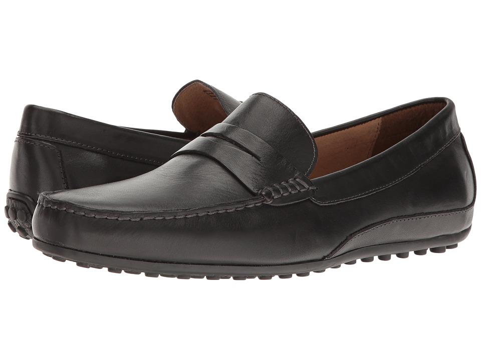 Florsheim Oval Penny Driver (Black Smooth) Men