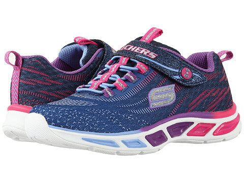 SKECHERS KIDS Lite Beams 10667L Lights (Little Kid/Big Kid) - Navy/Multi