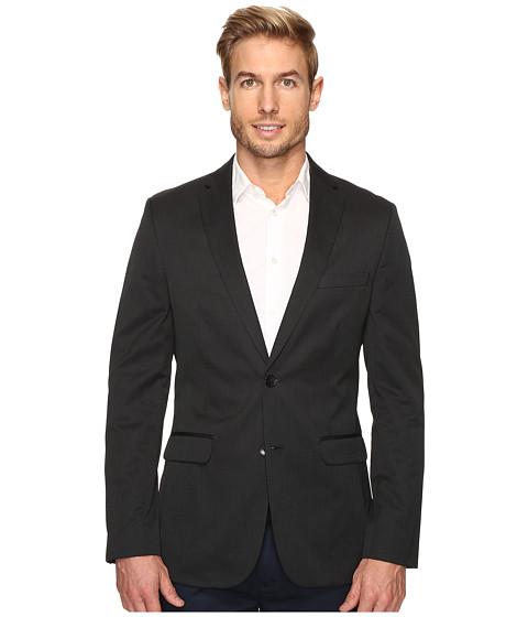 Calvin Klein Slim Fit Ticking Stripe Sportcoat - Granite