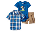 Carhartt Kids - Three-Piece Canyon Brown Short Set (Infant)