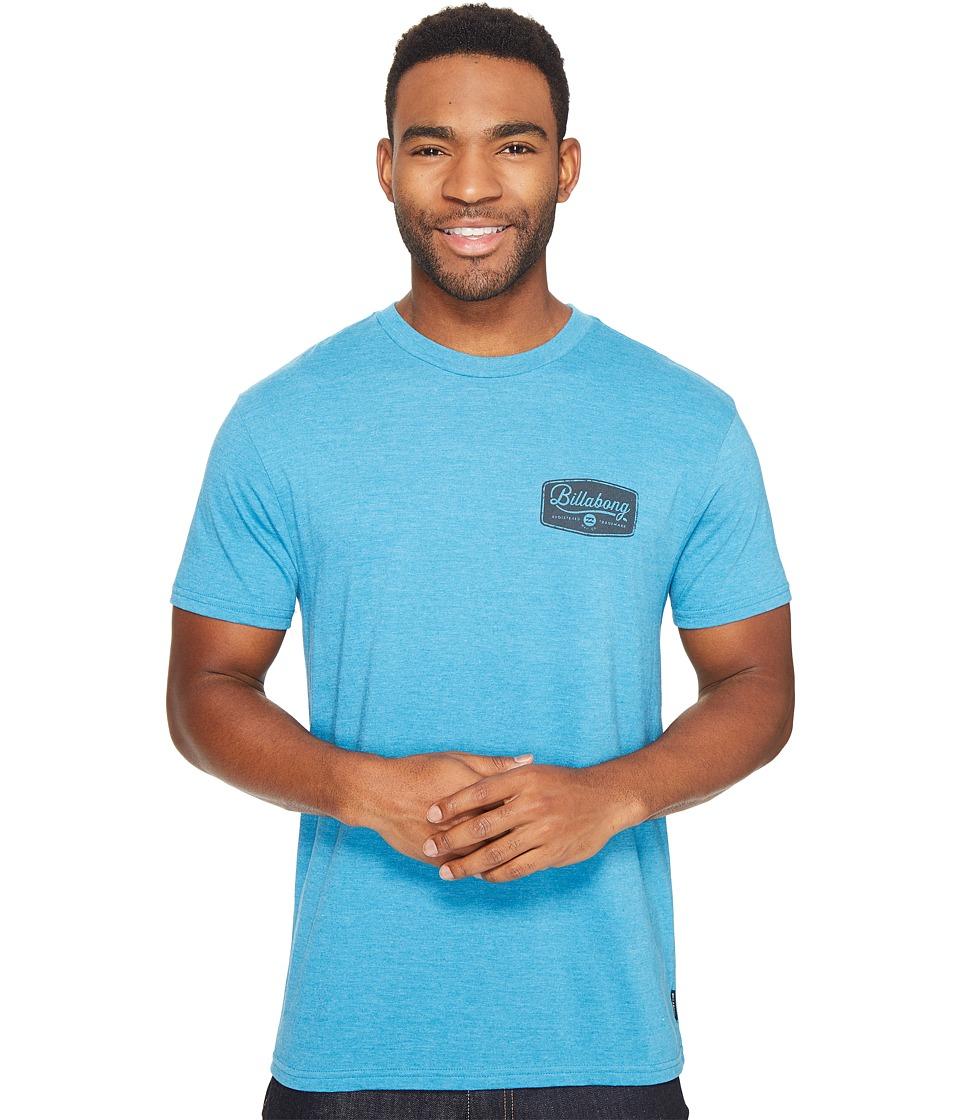 Billabong Pitstop Printed T-Shirt (Ocean Heather) Men