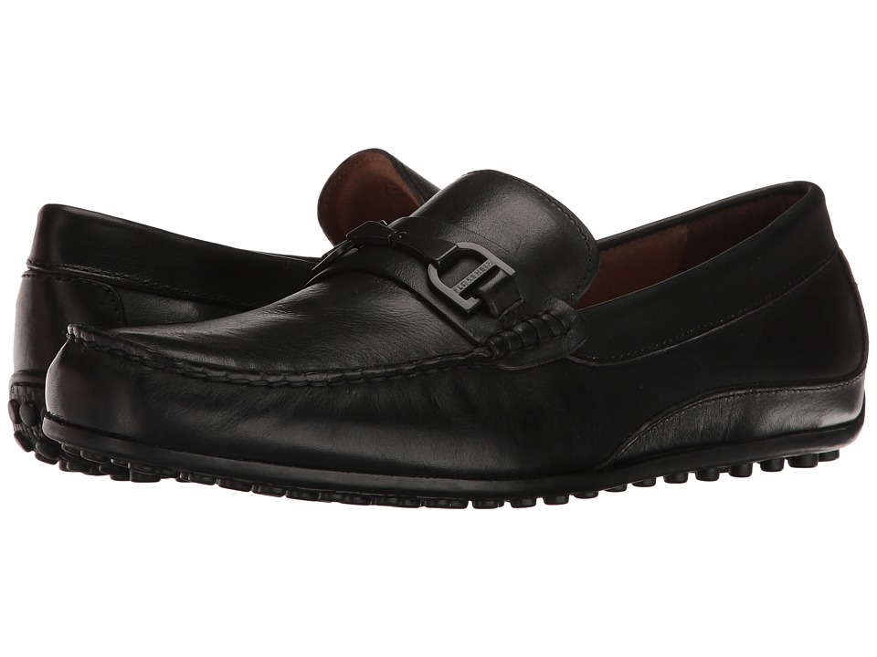 Florsheim Oval Bit Driver (Black Smooth) Men