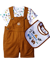 Carhartt Kids - Three-Piece Shortall Gift Set (Infant)