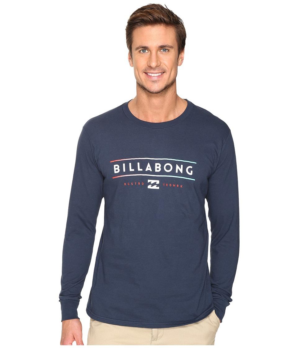 Billabong Dual Unity Printed T-Shirt (Navy) Men