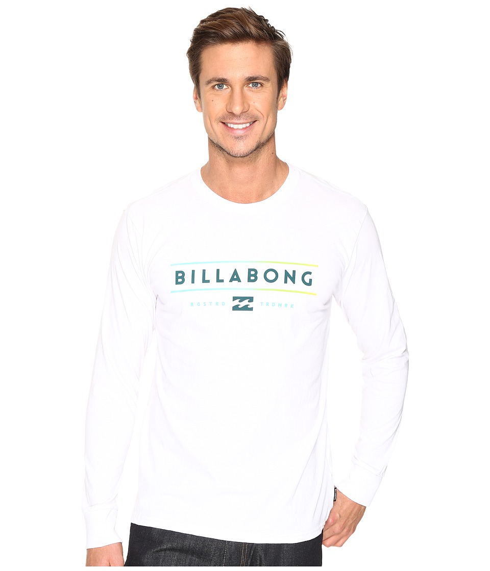 Billabong Dual Unity Printed T-Shirt (White) Men
