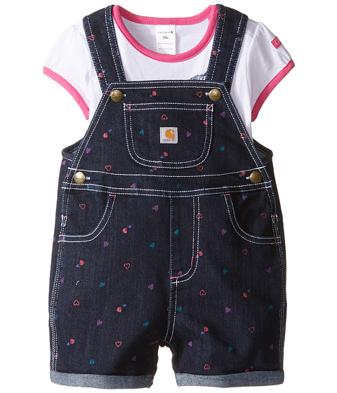 Carhartt Kids Printed Denim Shortall Set (Infant)