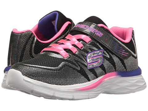 SKECHERS KIDS Dream N Dash 81131L (Little Kid/Big Kid) - Black/Lavendar/Pink