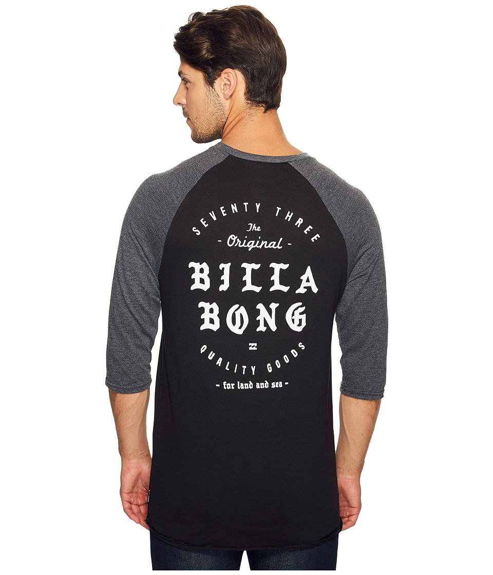 Billabong Beacon Printed T-Shirt (Black/Charcoal) Men