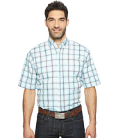 Stetson - 0822 Windowpane Satin Check Short Sleeve Button