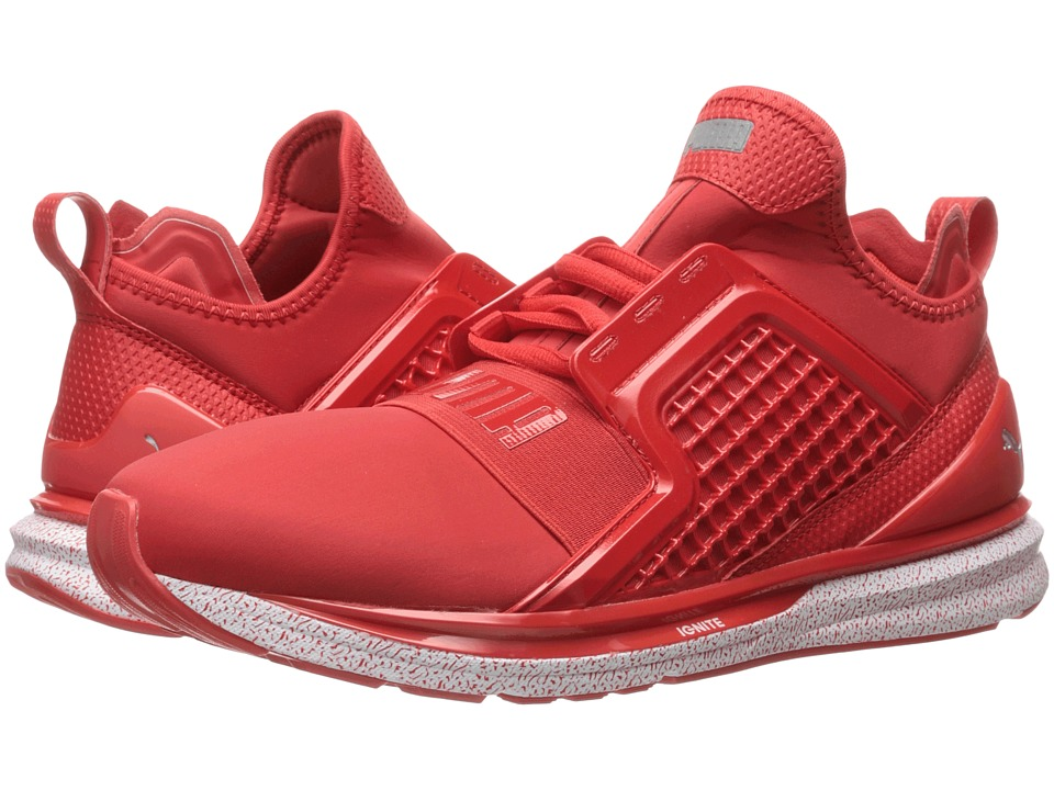 PUMA - Ignite Limitless Snow Splatter (High Risk Red) Mens Running Shoes