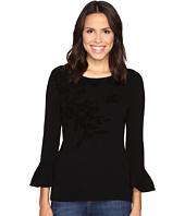 Ellen Tracy - Bell Sleeve Flocked Sweater