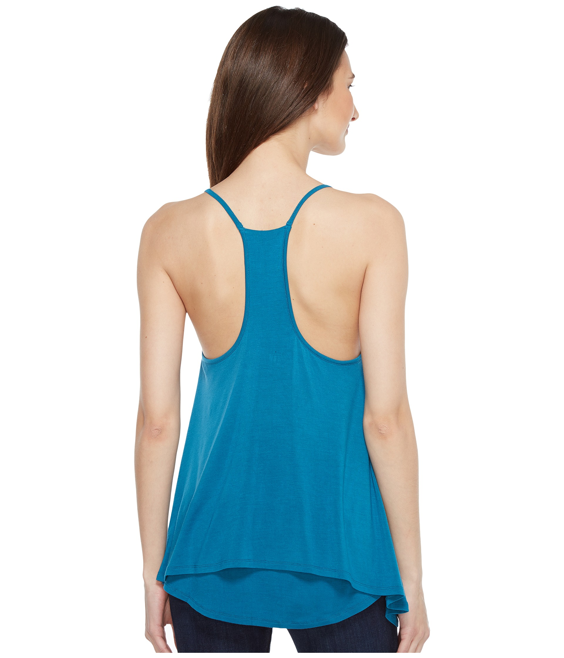 This support tank provides tummy & fatigue-relieving back support while reducing the waistline without compressing the chest area. From the Core fibers of 32% DuPont Lycra® spandex and 22% DuPont Antron® nylon wrapped with 42% pure cotton, this fabric stretches four ways, providing you with the best fit and compression in total comfort.