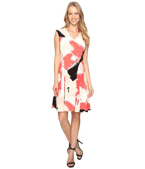 Ellen Tracy Printed Soft-Fold Dress