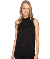 Ellen Tracy - Double Layer High Neck Shell