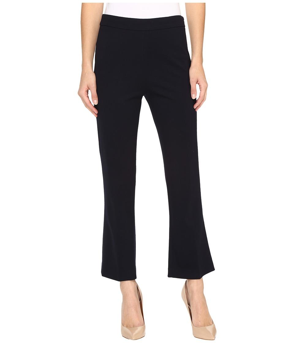 Ellen Tracy Flare Crop Trousers (E-Navy) Women