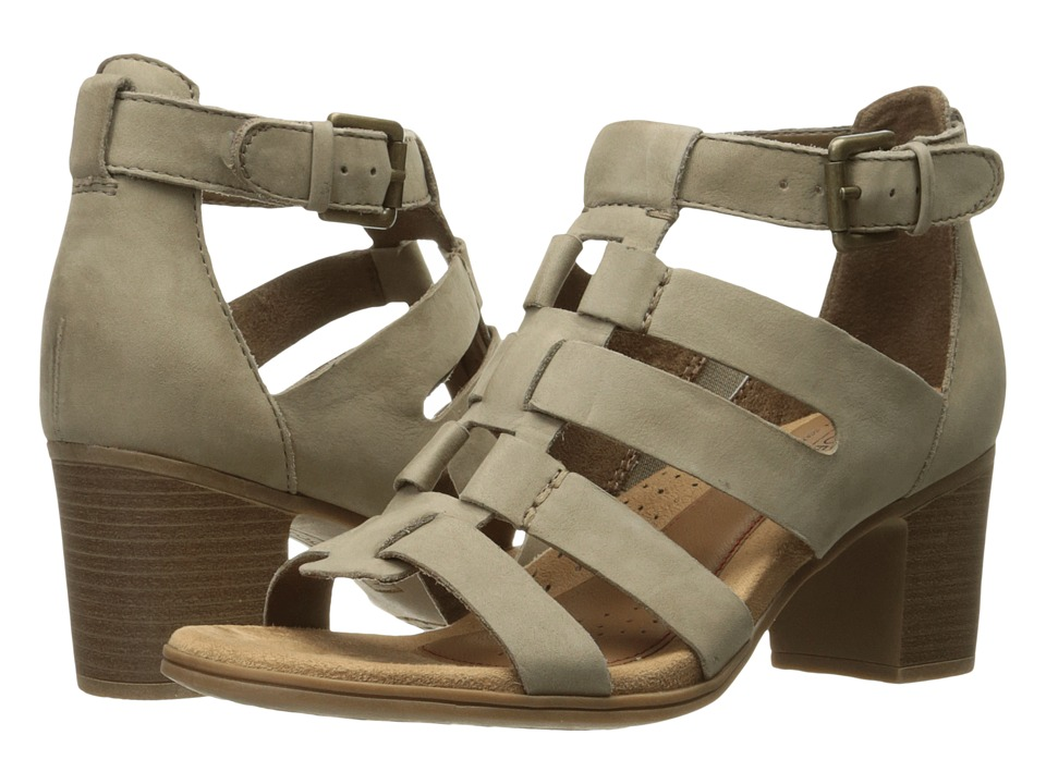 Rockport Cobb Hill Collection - Cobb Hill Hattie Gladiator (Light Khaki Nubuck) Womens Shoes