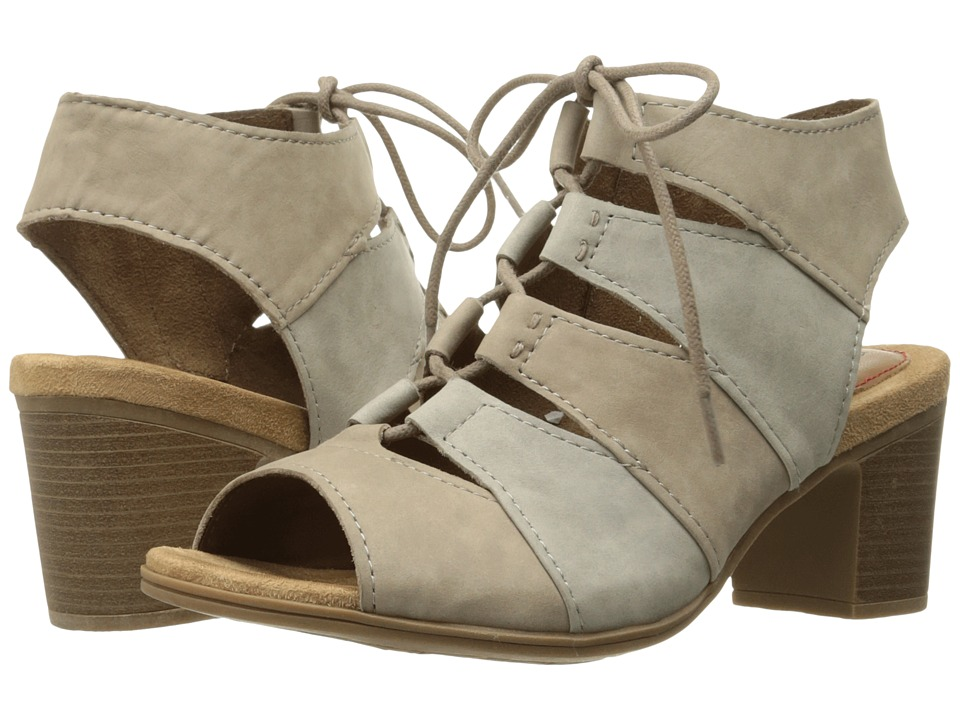 Rockport Cobb Hill Collection Cobb Hill Hattie Lace-Up Sandal (Khaki Multi Nubuck) Women