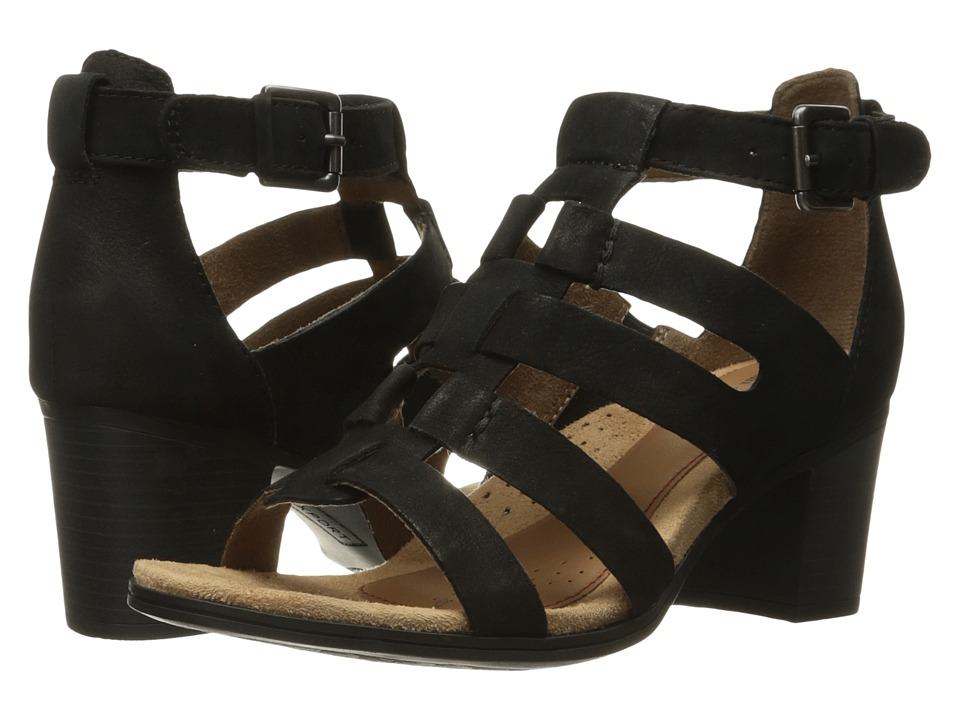 Rockport Cobb Hill Collection Cobb Hill Hattie Gladiator (Black Nubuck) Women