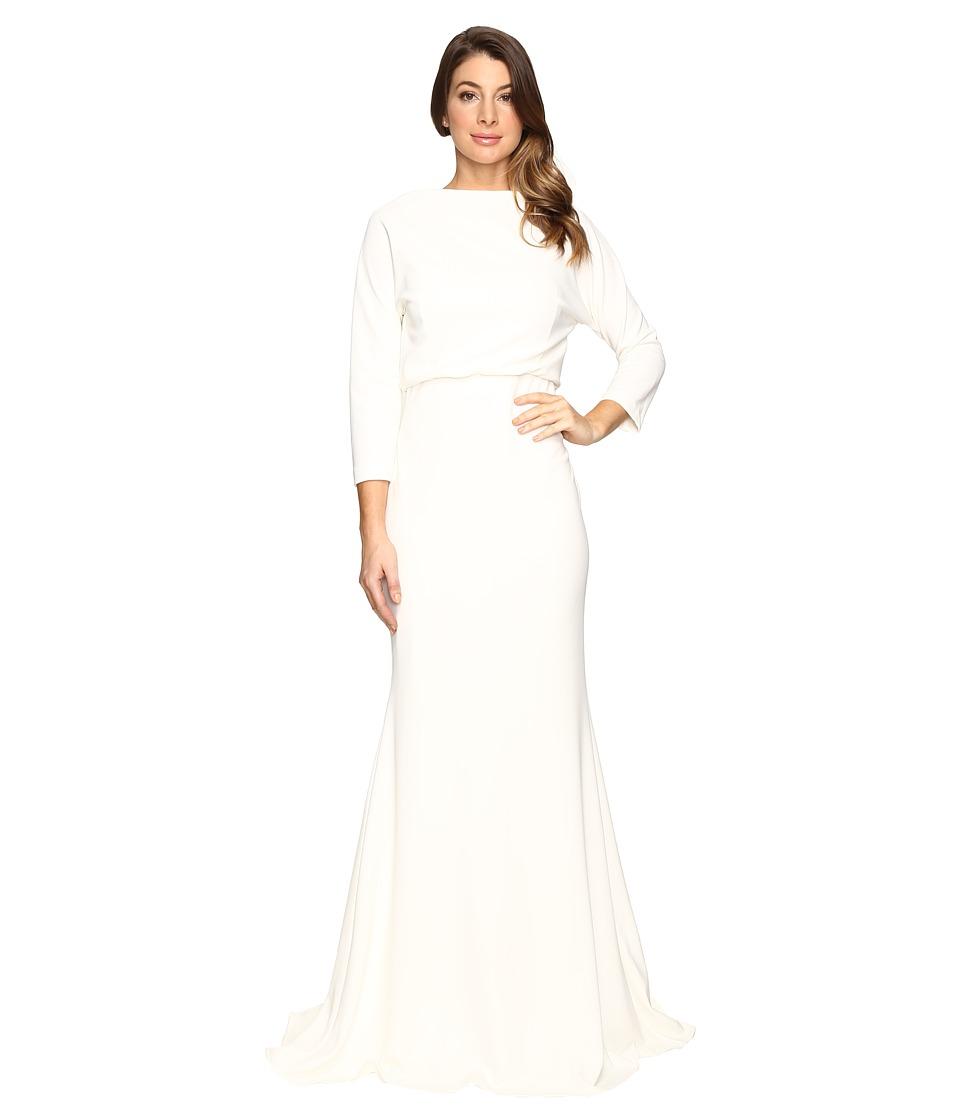 Badgley Mischka It Dress Blouson Gown (Ivory) Women