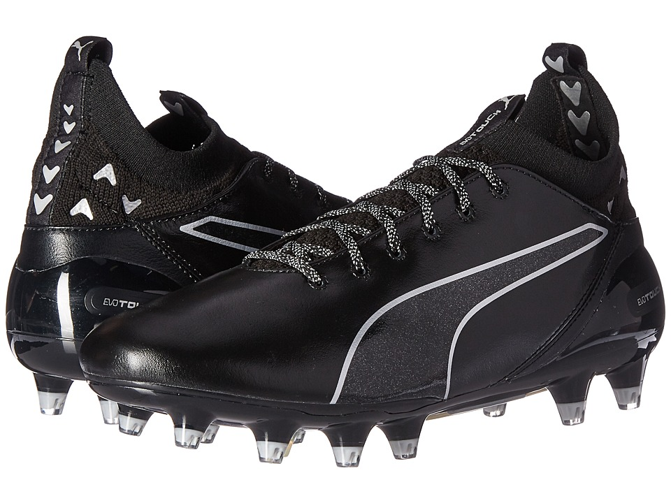 PUMA - evoTouch Pro FG (Puma Black/Puma Black/Puma Silver) Mens Shoes