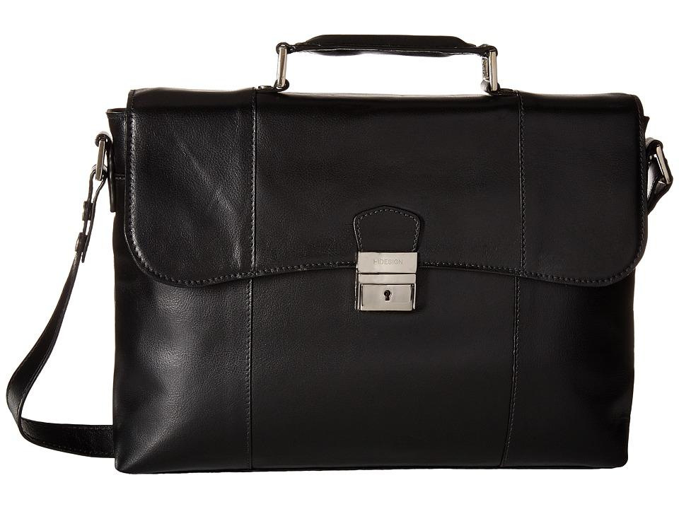 Scully - Hidesign Jayden Lightweight Brief (Black) Briefcase Bags