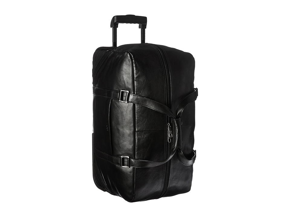 Scully - Hidesign Blaze Leather Wheeled Carry-On (Black) Carry on Luggage