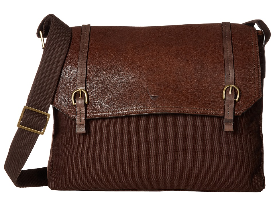 Scully - Hidesign Bentley Distressed Leather and Canvas Brief Bag (Brown) Briefcase Bags