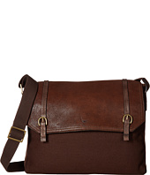 Scully - Hidesign Bentley Distressed Leather and Canvas Brief Bag