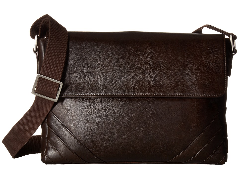 Scully - Hidesign Carter Messenger Bag (Brown) Messenger Bags