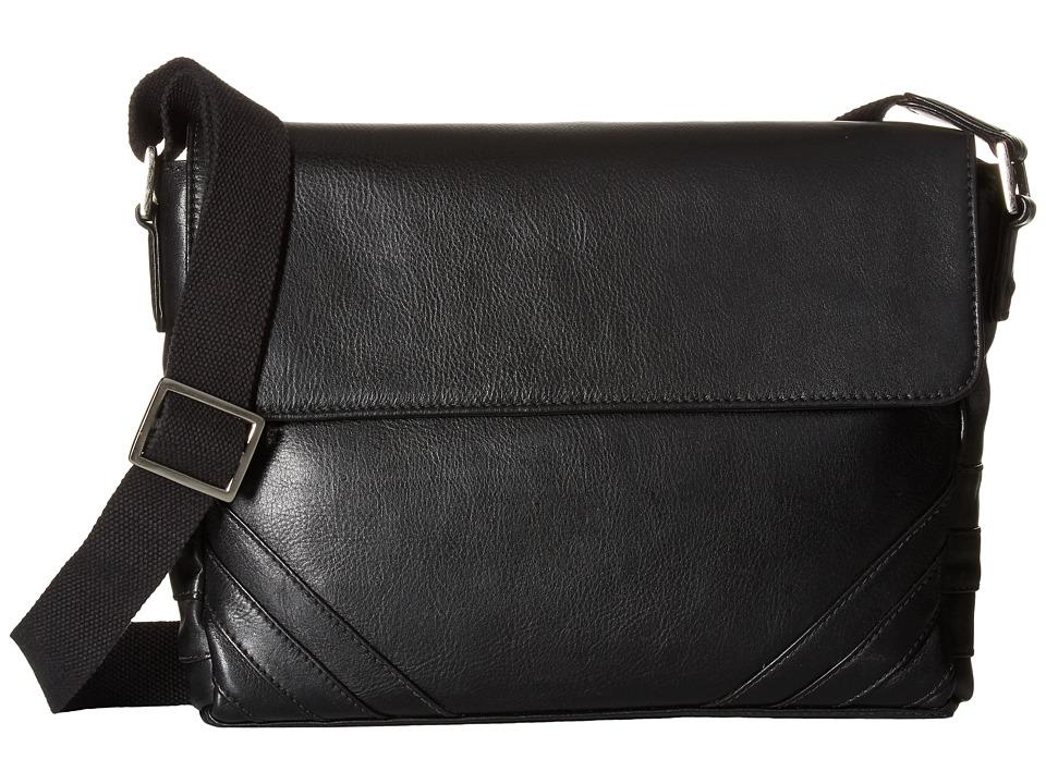 Scully - Hidesign Carter Messenger Bag (Black) Messenger Bags