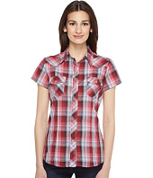 Roper - 0926 Cranberry Plaid w/ Silver Lurex