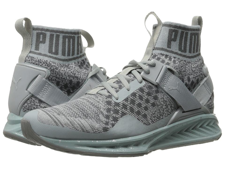 PUMA - Ignite evoKNIT Metal (Quarry/Quiet Shade/Puma Silver) Womens Running Shoes