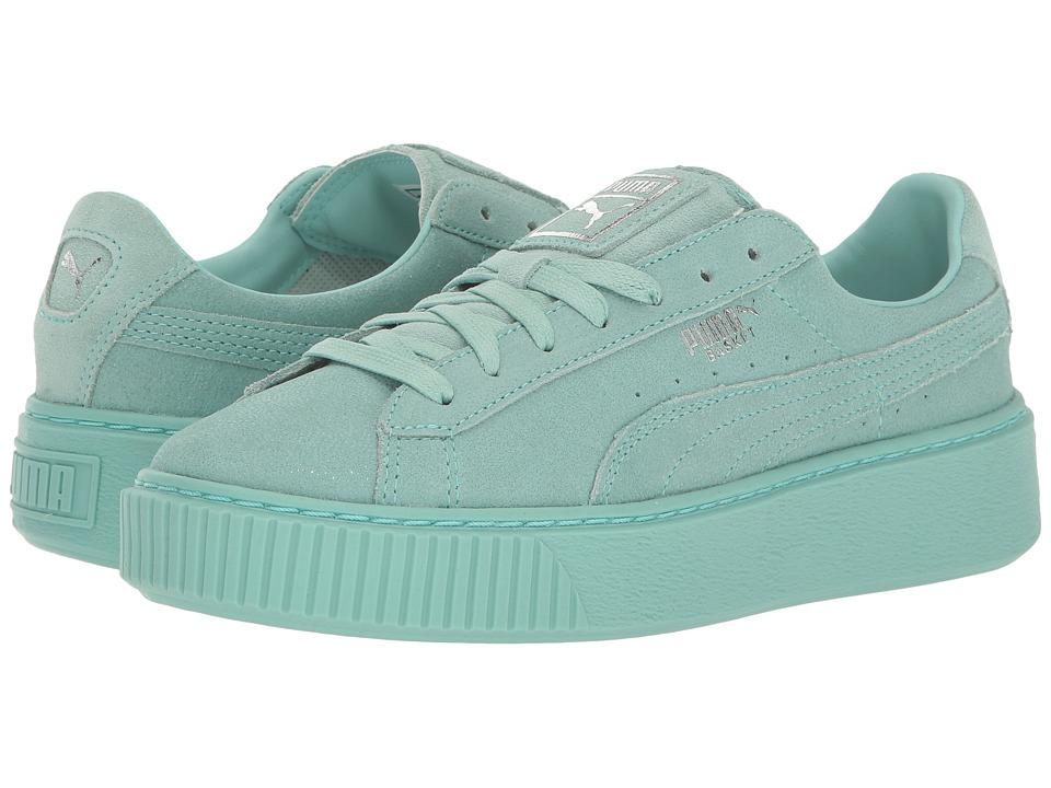 PUMA - Puma Platform Reset (Aruba Blue/Aruba Blue) Womens Shoes